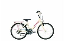 "BikeFun GRLPWR 24"" Creme/Roze"